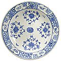 A fine iznik blue and white pottery dish, turkey, circa 1560-70