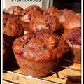 Muffins chocolat framboises - muffins chocolate frambuesas