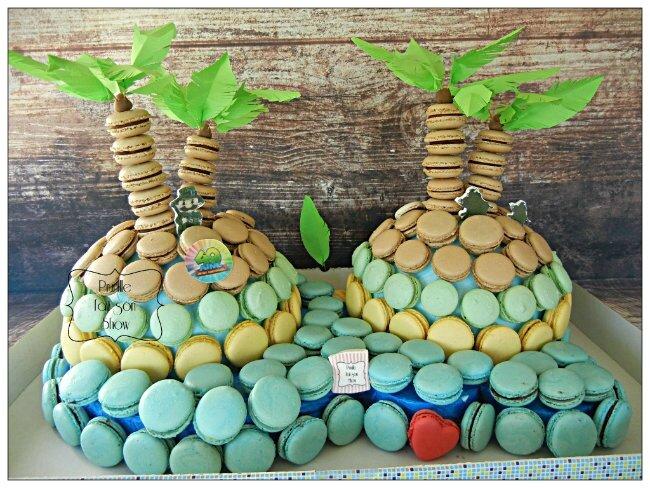 Une île en macarons .