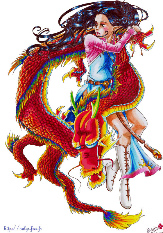 Coloriage couleur dragon de chine - Dessin dragon couleur ...