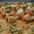 Curry de pétoncles, d'après claire-emma