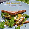 Club sandwich aubergine & féta