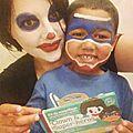 Test: maquillage de clown et de super héros avec namaki