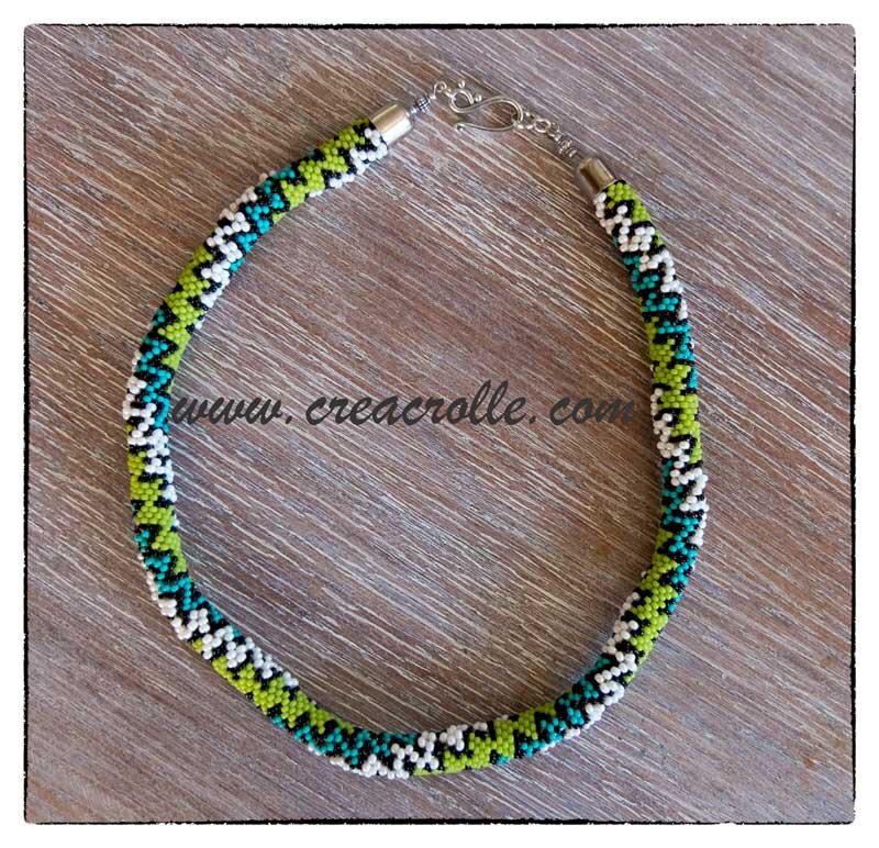 Spirale vert turquoise