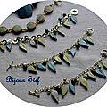 Bracelets breloques feuilles d'automne ! pour
