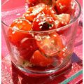 Salade de tomates cerises, sauce aux anchois