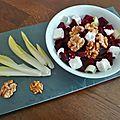 Salade de betterave au chèvre et noix - by claire -