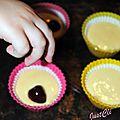 Gâteaux cerise/chocolat blanc
