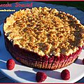 Cheesecake steusel aux framboises