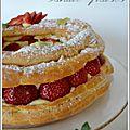Paris-brest vanille aux fraises.
