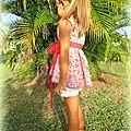 Un cache-coeur aux couleurs estivales pour romane