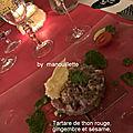 Tartare de thon rouge, gingembre et sésame