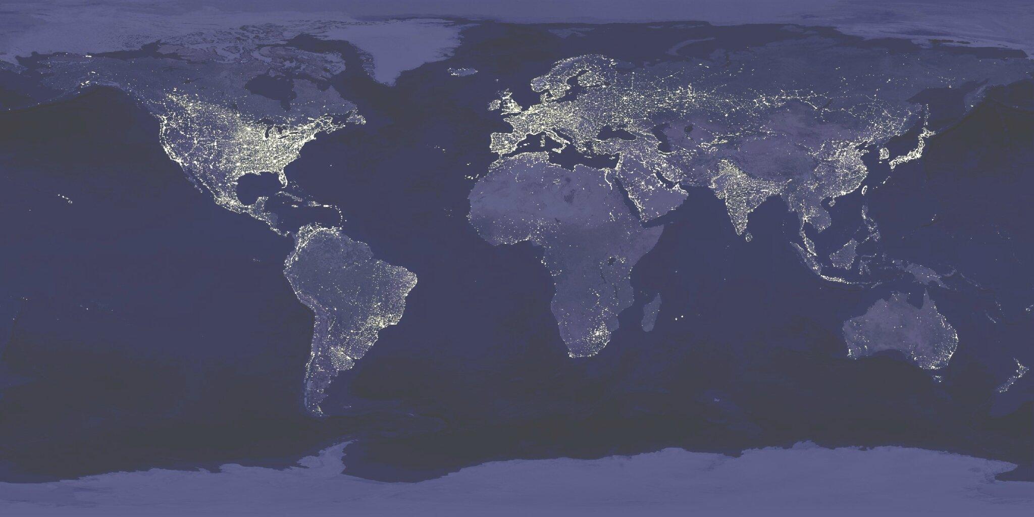 world_at_night pollution lumineuse biodiversité nocturne