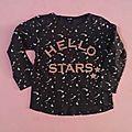 Tee-shirt étoiles, 3 ans