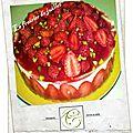 Le fraisier de juillet