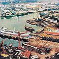 Concarneau, le port et les chantiers Piriou