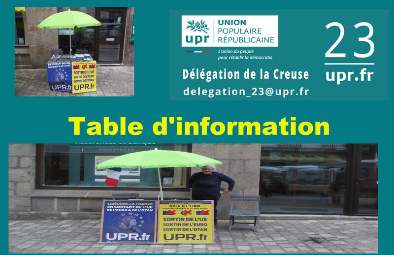 TABLE UPR 23
