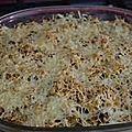 Gratin riz courgettes boeuf