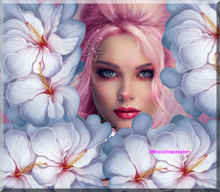 Femme fleurs création minouchapassion