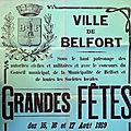 Les Grandes Fêtes patriotiques de 1919 à Belfort, les préparatifs (1ère partie)