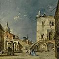 <b>Francesco</b> <b>Guardi</b> (Venice 1712 - 1793), Capriccio view of a Venetian campo