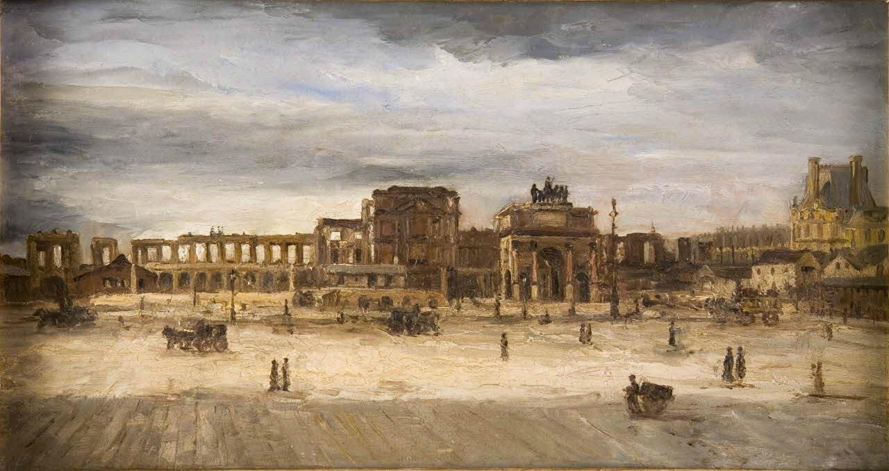 Bartholomé (albert), ruines des Tuileries le 5 avril 1883