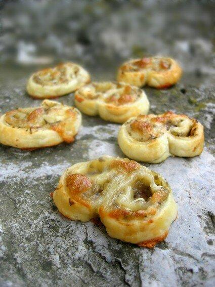Palmiers apéritifs au caviar de lentilles vertes (Clea cuisine)