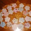 Petites fleurs en papier liberty