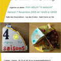 <b>Atelier</b> du 7 novembre 2009 - mini album 4 saisons