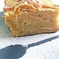Gâteau moelleux aux pêches de vigne
