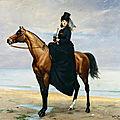 PORTRAIT EQUESTRE DE MADEMOISELLE CROIZETTE - <b>CAROLUS</b> DURAN