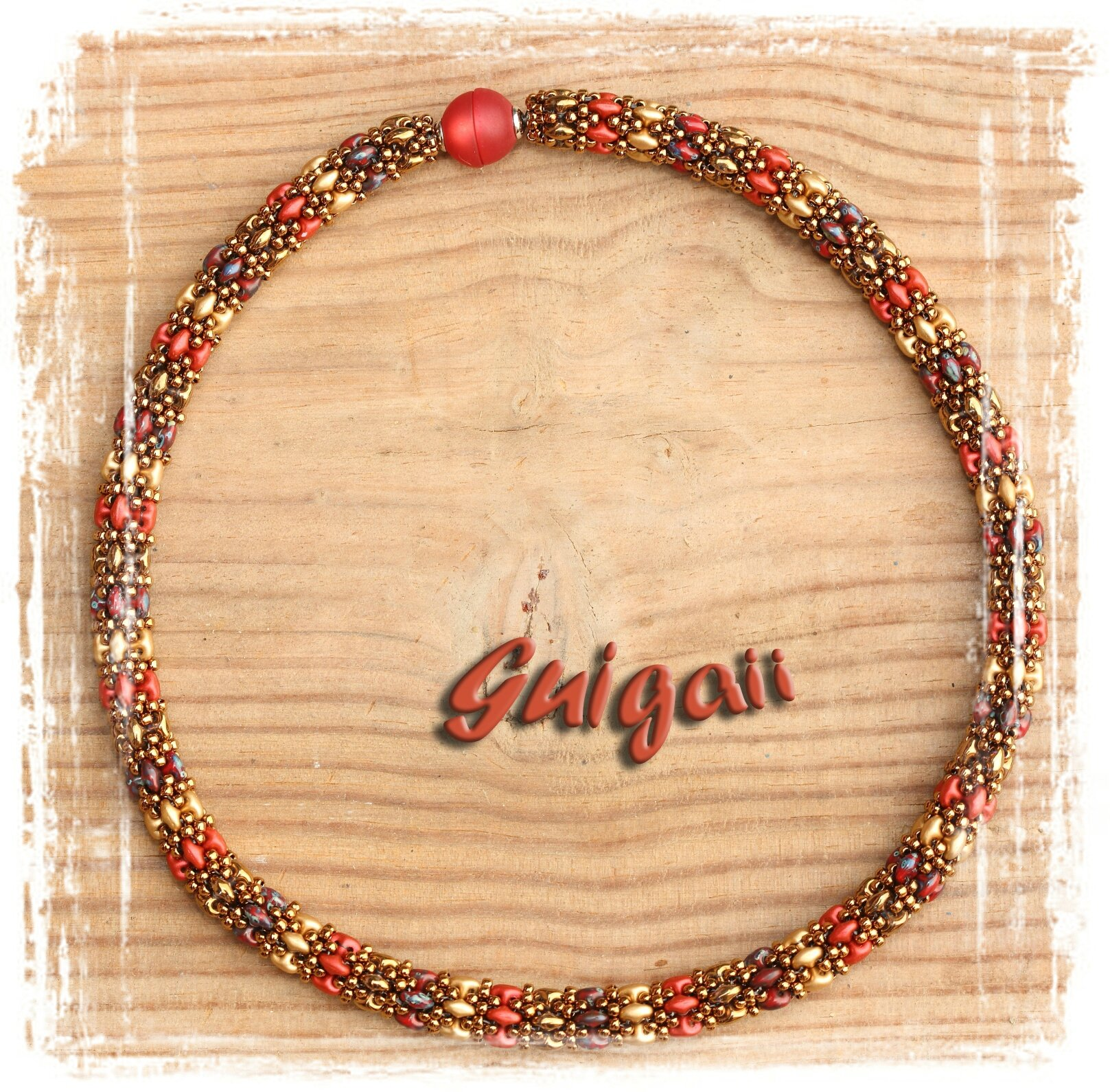 Collier Daydreamrope rouge_or2