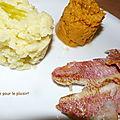 Duo d ecrase de pdt et de patates douces rouget