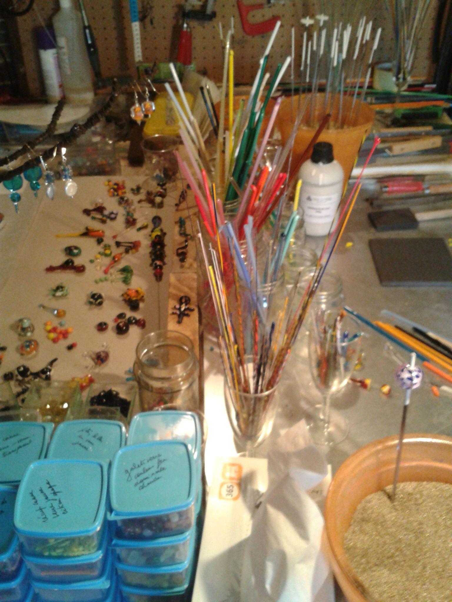 Achat de matériel : set de démarage pour réaliser des perles en verre filé , au chalumeau !
