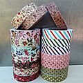 ☆ ☆ Les <b>Fabric</b> <b>Tapes</b> et <b>Fabric</b> Stickers : thermocollants !!!