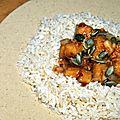 Tofu à l'orange sanguine