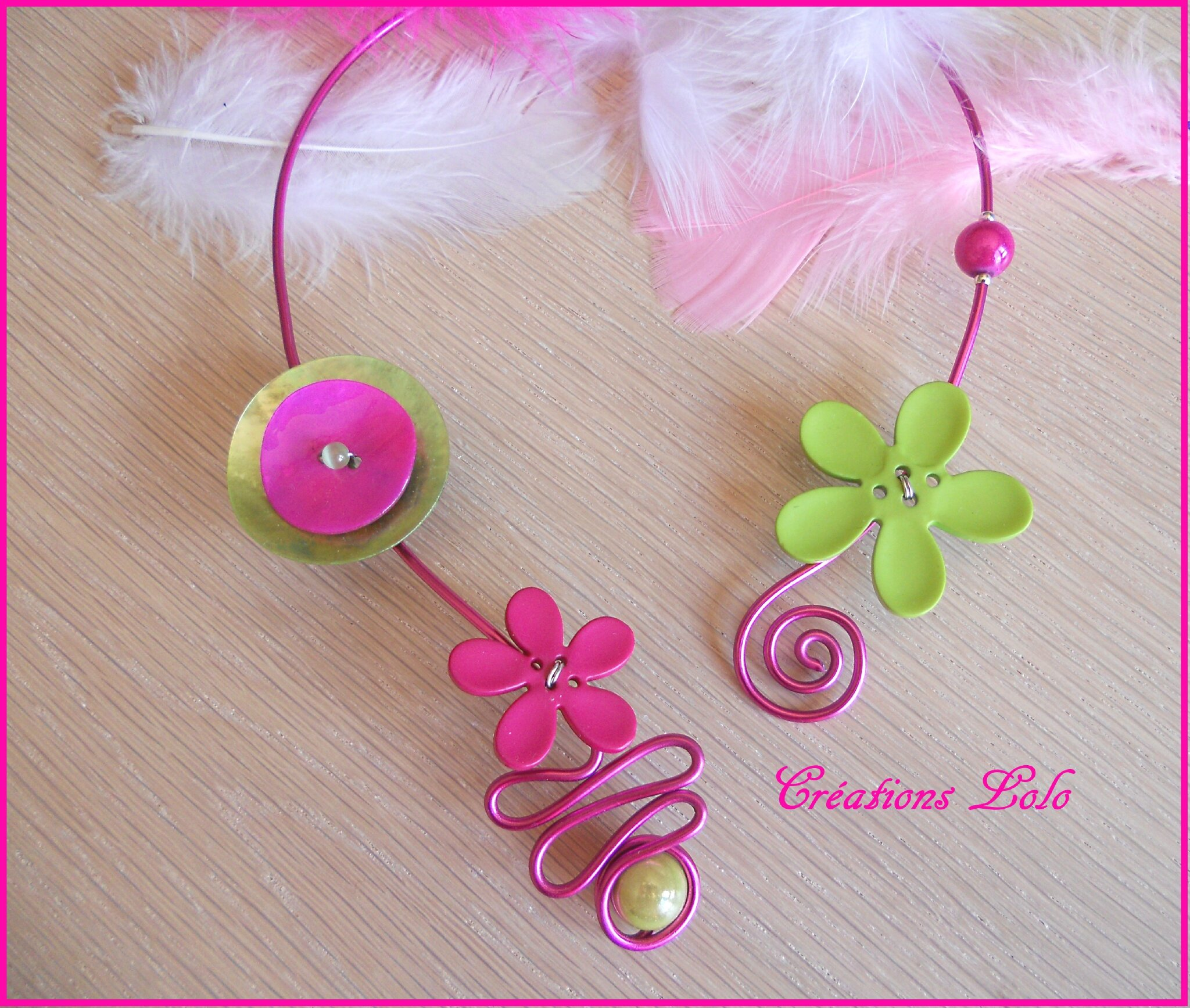292 - Collier alu - boutons
