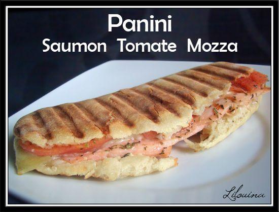 Panini saumon tomate mozza maison fait maison par lilouina - La maison du panini ...