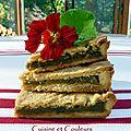 Kkvkvk # 59: gâteau façon basque à la compote de rhubarbe
