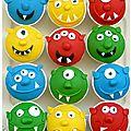 Muffins monstres rigolos