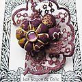 ♥ orenela ♥ broche textile romantique fleurs potirons - les yoyos de calie