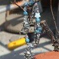 Bracelet style gas bleu