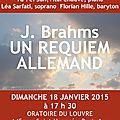 Requiem allemand brahms dirigé par adam vidovic