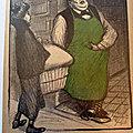 Steinlen <b>vitrine</b> caricature humour hu71