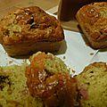 Petits cakes pruneaux-lardons