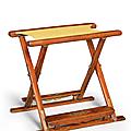 A very rarehuanghualifolding stool,jiaowu, Qing dynasty, 17th-18th century