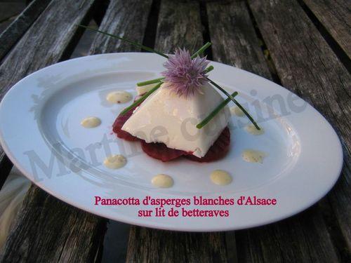 Pannacota aux asperges
