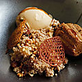 Dessert autour du sarrasin