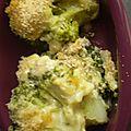 Gratin de brocolis à la moutarde