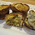 Muffin chocolat blancs noisettes